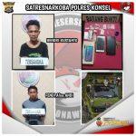 Miliki Sabu 4,96 Gram, Dua Pria di Konsel Diamankan Polisi