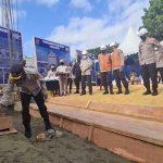 Letakkan Batu Pertama Rusun Dalmas dan BPKB, Kapolda Sultra : Diharapkan Bisa Tingkatkan Kinerja