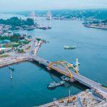 Teluk Kendari Kota Kendari jembatan kuning kendari jembatan teluk kendari