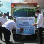 Gubernur Sultra Lepas Bantuan Beras PPKM