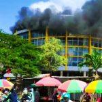 Pasar Sentar Kota Terbakar, Api Diduga dari Sampah yang Dibakar Anak anak