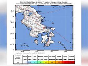 Gempa Kembali Guncang Kendari, Magnitude 2,7 SR